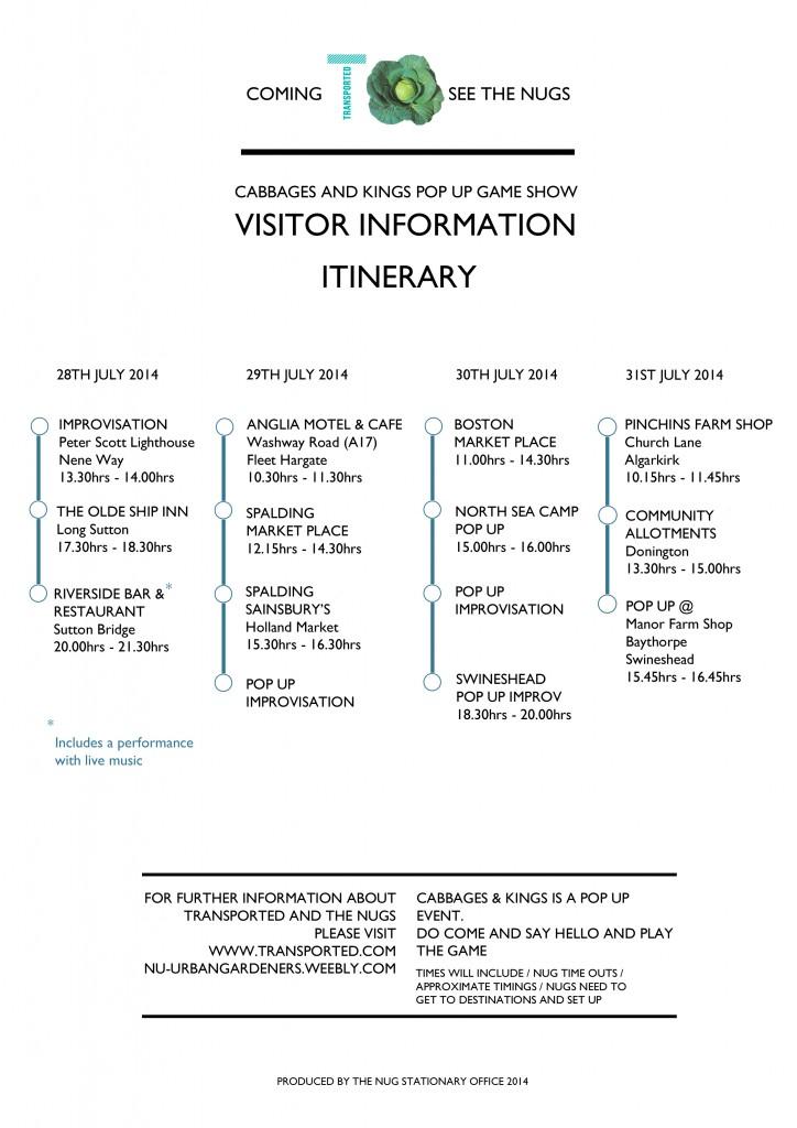 NUG C&K's_Itineray 1_2014