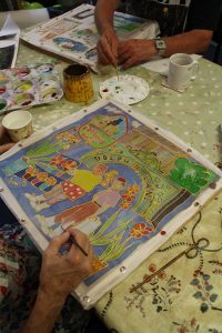 Help create a beautiful silk painting with Sue Rowland!