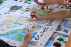 Silk painting for #Mayflower2020. Image credit Transported.